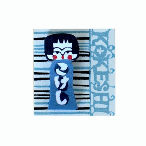 kokeshi post it blau