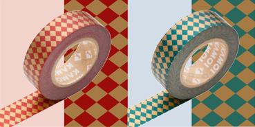 mt masking tape diamond red x green 1