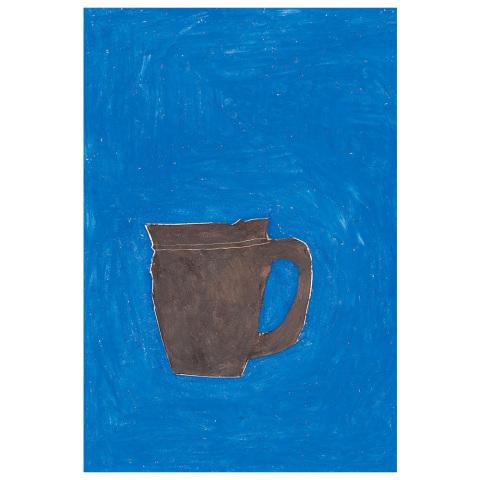 postkarte blau mug