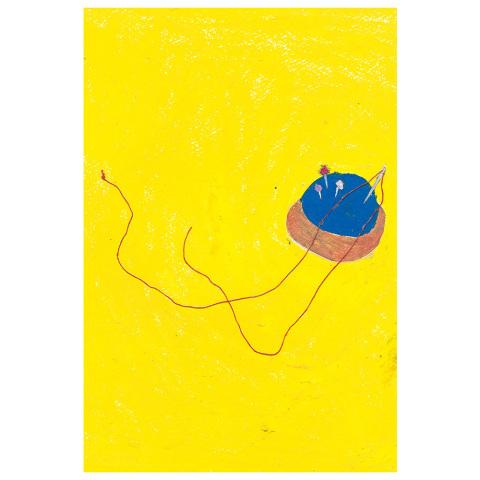 postkarte gelb