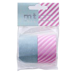 mt masking tape wide hougan blue stripe pink 2 s