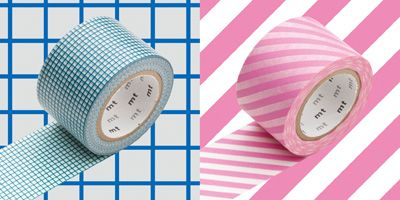 mt masking tape wide hougan blue stripe pink