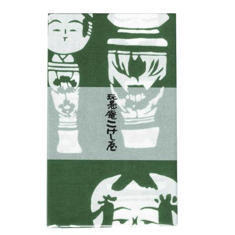 kokeshi_tenugui_green
